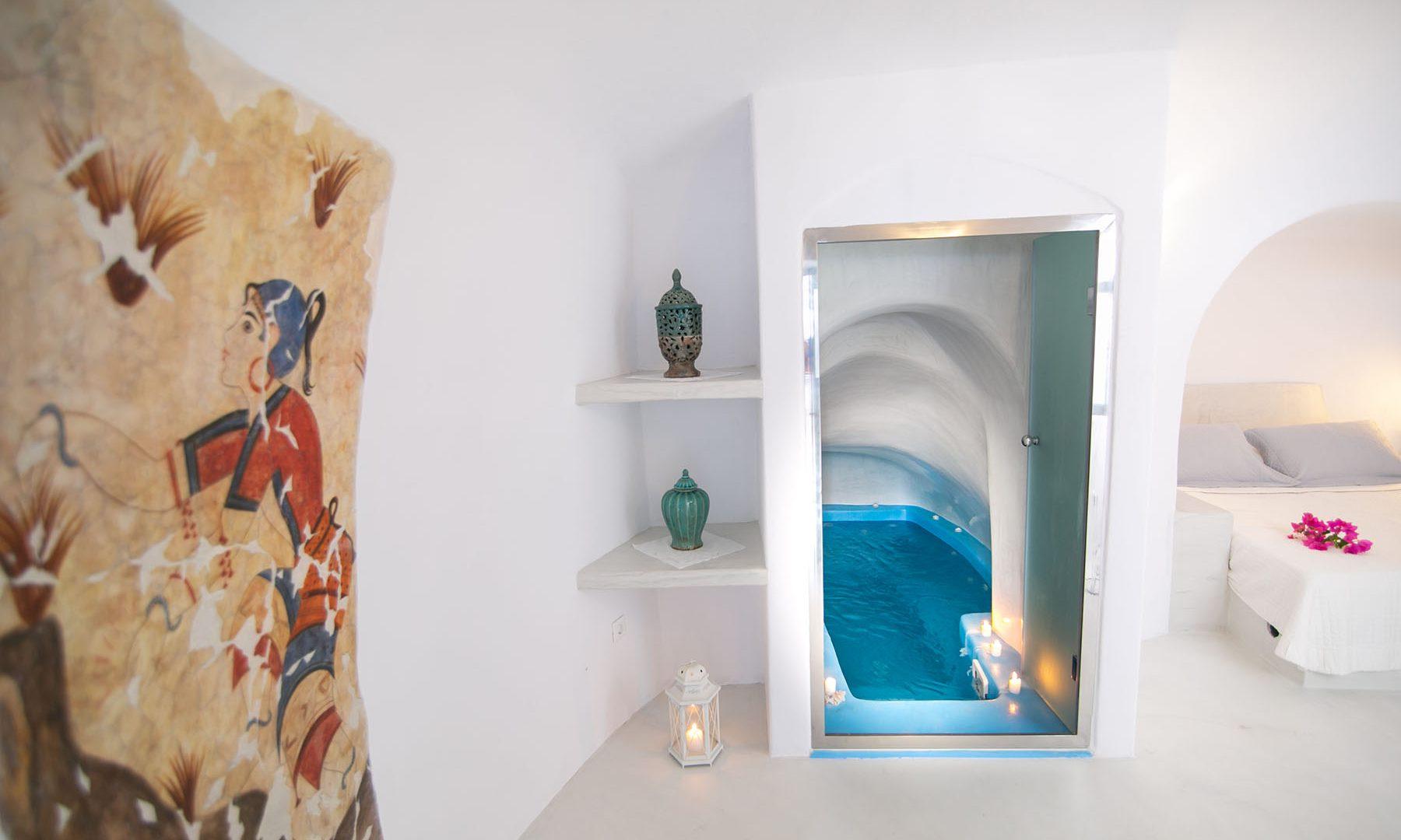 luxury oia accommodation santorini | Kastro Oia Houses