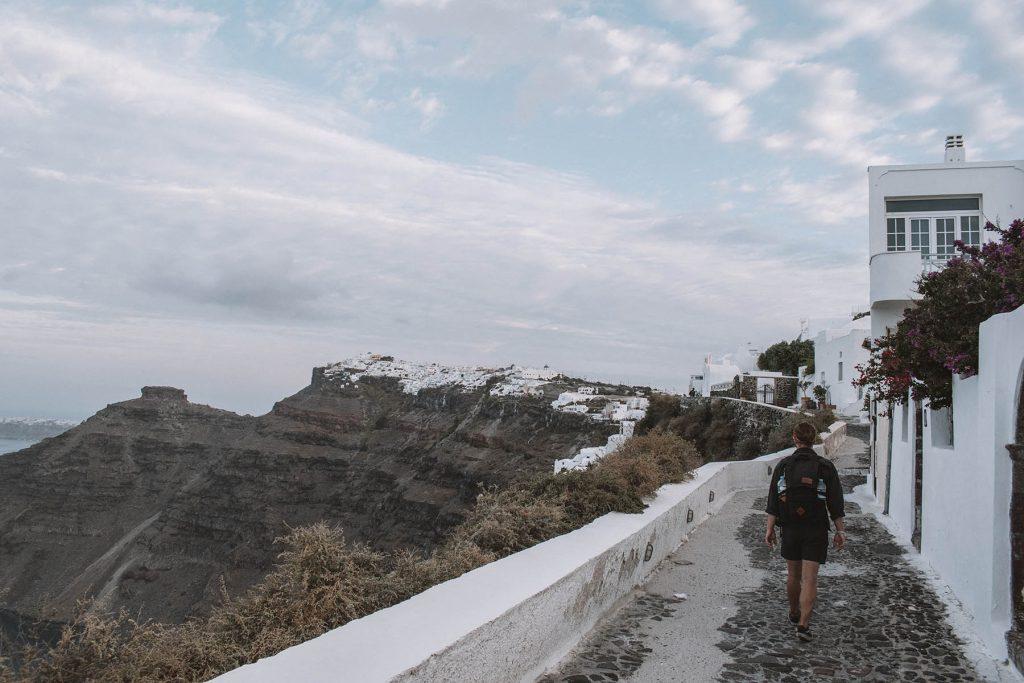 trekking in santorini | Kastro Oia Houses